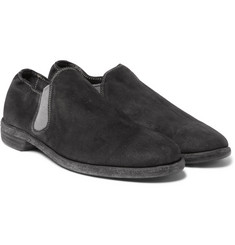 Guidi - Distressed Suede Low-Cut Chelsea Boots