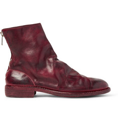Guidi Burnished-Leather Boots