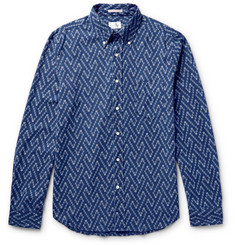 Gant Rugger Slim-Fit Button-Down Collar Cotton-Jacquard Shirt