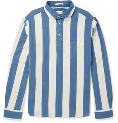Gant Rugger Indigo-Dyed Striped Cotton Oxford Shirt