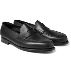John Lobb Grained-Leather Penny Loafers