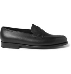 MR PORTER 5th ANNIVERSARY + John Lobb Lopez Grained-Leather Penny Loafers