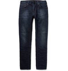 Nudie Jeans - Lean Dean Slim-Fit Washed Organic Stretch-Denim Jeans