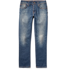 Nudie Jeans Grim Tim Slim-Fit Selvedge Stretch-Denim Jeans