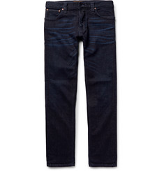 Nudie Jeans - Grim Tim Slim-Fit Washed Organic Stretch-Denim Jeans