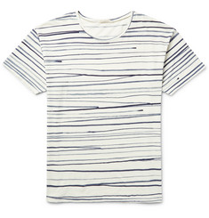 Nudie Jeans Rain Striped Slub Cotton-Jersey T-Shirt