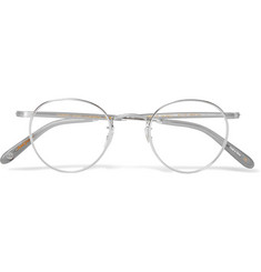Garrett Leight California Optical Wilson M46 Round-Frame Stainless Steel Optical Glasses
