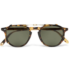 Garrett Leight California Optical Hampton 46 Tortoiseshell Acetate Optical Glasses with Clip-On UV Lense