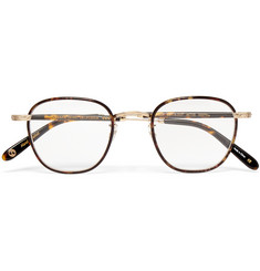 Garrett Leight California Optical Grant Square-Frame Acetate and Metal Optical Glasses