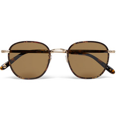Garrett Leight California Optical Grant Square-Frame Acetate and Gold-Tone Sunglasses