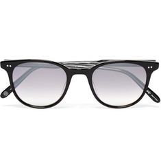 Garrett Leight California Optical Wellesley D-Frame Acetate Mirrored Sunglasses