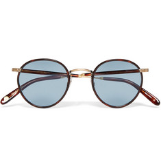 Garrett Leight California Optical Wilson Round-Frame Tortoiseshell Acetate Sunglasses