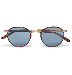 Garrett Leight California Optical Wilson Round-Frame Tortoiseshell Acetate and Gold-Tone Sunglasses