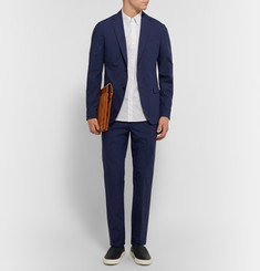 Theory - Blue Rodolf Slim-Fit Stretch-Cotton Blazer