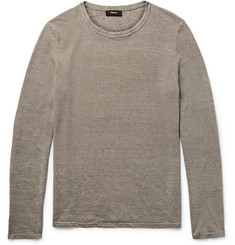 Theory Filiep Linen-Blend Sweater