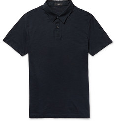Theory Dennison Slub Cotton-Jersey Polo Shirt