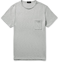 Theory Jeso Slim-Fit Knitted Slub Cotton-Blend T-Shirt