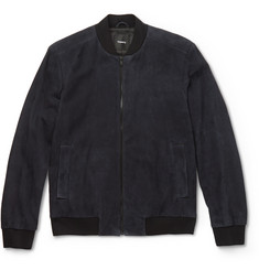 Theory Brant Suede Bomber Jacket