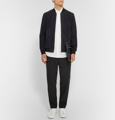 Theory - Brant Suede Bomber Jacket