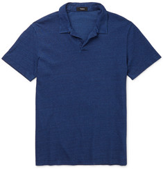 Theory Willem Slim-Fit Open-Collar Cotton-Jersey Polo Shirt