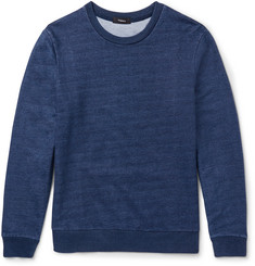 Theory Danen Slim-Fit Indigo-Dyed Cotton-Jersey Sweatshirt