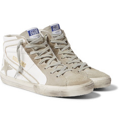 Golden Goose Deluxe Brand - Distressed Leather and Suede High-Top Sneakers