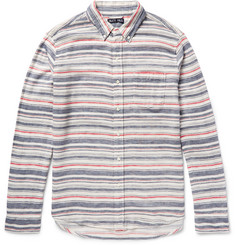 Alex Mill Slim-Fit Striped Cotton and Linen-Blend Shirt