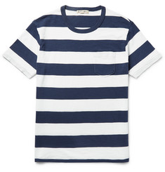 Alex Mill Ocean Slim-Fit Striped Slub Cotton-Jersey T-Shirt