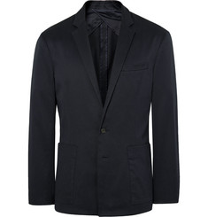 Saturdays NYC Navy Nomad Stretch-Cotton Canvas Blazer