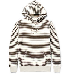 Saturdays NYC Ditch Striped Loopback Cotton-Jersey Hoodie