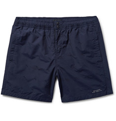 Saturdays NYC - Trent Schiffli Mid-Length Embroidered Swim Shorts