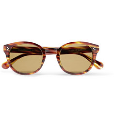 Saturdays NYC Mitsu Round-Frame Tortoiseshell Acetate Sunglasses