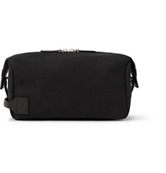 Saturdays NYC Chas Leather-Trimmed Canvas Wash Bag