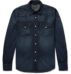 Jean Shop - Washed-Denim Western Shirt