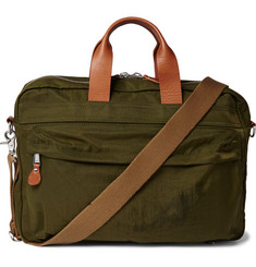 J.Crew Harwick Leather-Trimmed Shell Briefcase