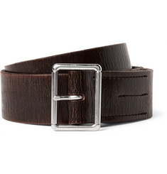 J.Crew 4cm Brown Wallace & Barnes Distressed Leather Belt