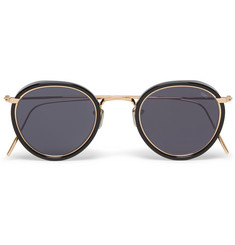 Eyevan 7285 Round-Frame Acetate and Metal Sunglasses