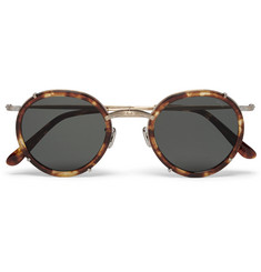 Eyevan 7285 Round-Frame Tortoiseshell Acetate and Metal Sunglasses