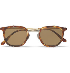 Eyevan 7285 Square-Frame Tortoiseshell Acetate and Metal Sunglasses