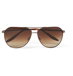 Barton Perreira Hawkeye Aviator-Style Acetate and Bronze-Tone Sunglasses