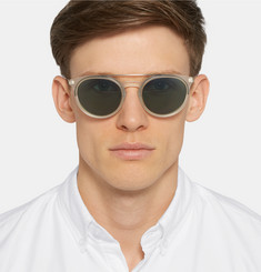 Barton Perreira Meyer Round-Frame Acetate Polarised Sunglasses
