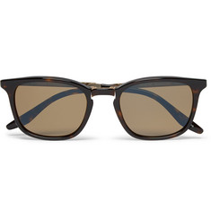 Barton Perreira Luxon Folding Tortoiseshell Acetate and Metal Polarised Sunglasses