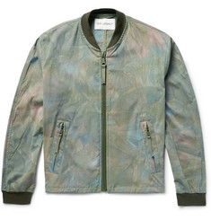 Our Legacy Tie-Dyed Stretch-Cotton Bomber Jacket