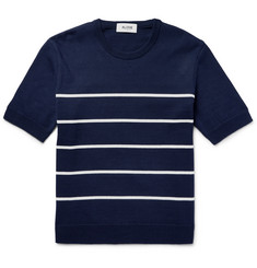 Aloye Striped Cotton Sweater