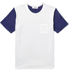Aloye Two-Tone Cotton-Jersey T-Shirt