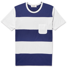 Aloye - Striped Cotton-Jersey T-Shirt