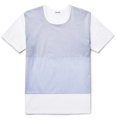 Aloye - Poplin-Panelled Cotton-Jersey T-Shirt