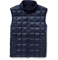 Hackett Panelled Quilted Shell and Wool Down Gilet