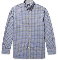 Hackett London Button-Down Collar Gingham Cotton Shirt
