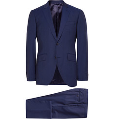 Hackett Blue Mayfair Slim-Fit Wool Suit